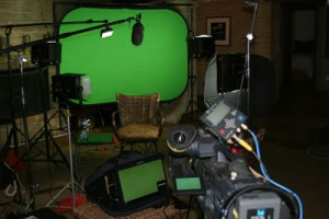 green screen video production phoenix arizona set with hd cameras boom microphones