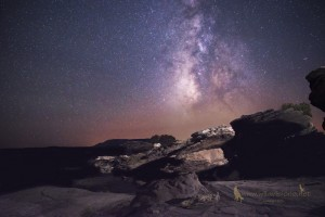 night sky milky rocks snowflake arizona
